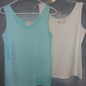 LOT OF 7 CHICO'S SZ.1,M,8, VARIOUS COLORS TANK TOP